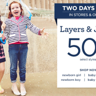 Gymboree *2 DAYS ONLY*: 50% Off Select Layers and Jeans