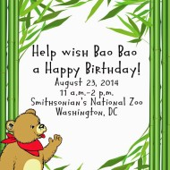 Join Bearitos for Bao Bao's First Birthday at the Smithsonian National Zoo {Washington DC} on August 23rd