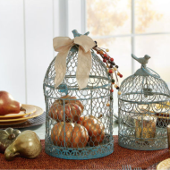 Easy DIY Fall Decor: Pumpkin Filled Birdcage + Craft Store Coupons for the Week