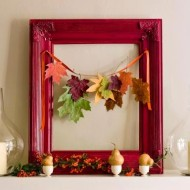 DIY Fall Decor Idea: Picture Frame with Hanging Fall Leaves + Craft Store Coupons for the Week