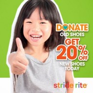 """Stride Rite's """"Big Hearts, Little Shoes"""" Donation Campaign: Donate Old Shoes, Get 20% Off New Shoes #Stride4Souls"""
