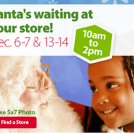Walmart: FREE 5×7 Photo with Santa in December