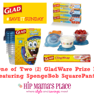 New, Limited Edition Gladware Series SpongeBob SquarePants and a Giveaway!