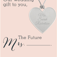 Things Remembered: FREE Personalized Keepsake Heart for Brides-to-Be