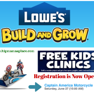 Lowe's Build and Grow: Kids Build FREE Avenger's Captain America Motorcycle – Register Now!
