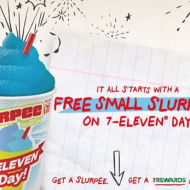 Free Small Slurpee at 7-Eleven on July 11th + Freebies All Week from July 12-18