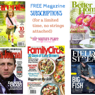 Free Magazine Subscriptions: Family Circle, Better Homes and Gardens + More!