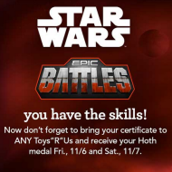 ToysRUs: FREE Star Wars Epic Battles Medals