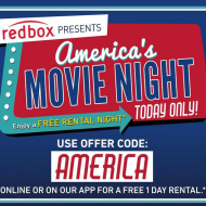 Redbox: FREE DVD Rental (Today Only)