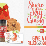 Holiday Selfless Giving with Zoës Kitchen + Gift Bag Giveaway  ‪#‎DeliverGoodness‬