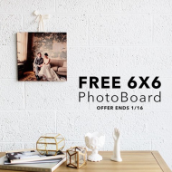 PhotoBarn: FREE 6×6 or 5×7 Photo Boards, Just Pay $9.99 Shipping