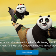 Chase Visa Cardholders: Buy 1 Kung Fu Panda 3 Movie Ticket, Get 1 FREE
