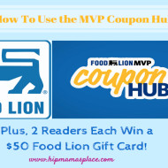 Food Lion's MVP Coupon Hub + Two Winners Each Win a $50 Food Lion Gift Card!