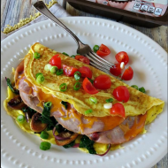 Spinach Ham and Cheese Omelette
