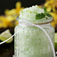 DIY Mint Lime Body Scrub