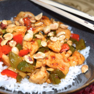 Easy Szechuan Chicken with Blue Dragon Stir Fry Sauce + Cookbook Giveaway!