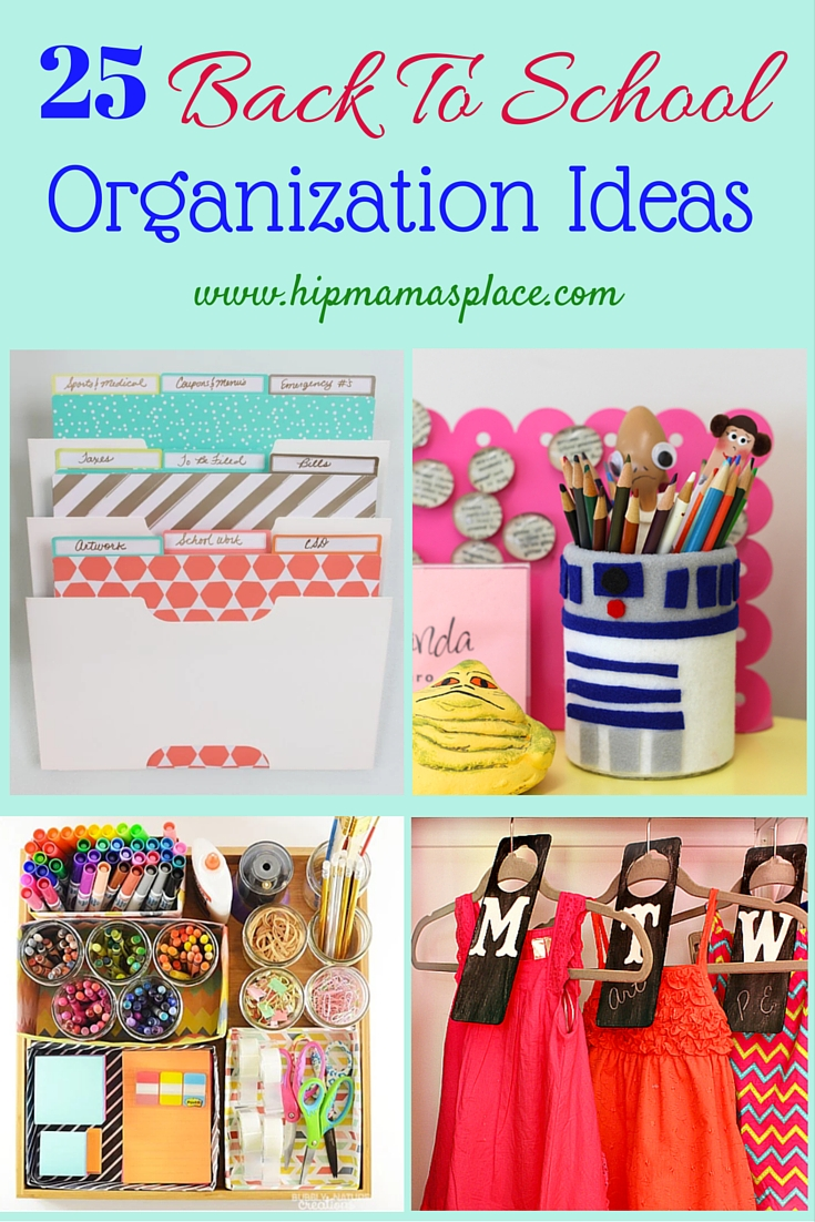 Back to school season is just around the corner. Stay organized all year with these 25 back to school organization ideas!