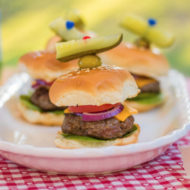 How to Have a Fun and Easy Labor Day Get Together + Barbecue Burger Sliders Recipe