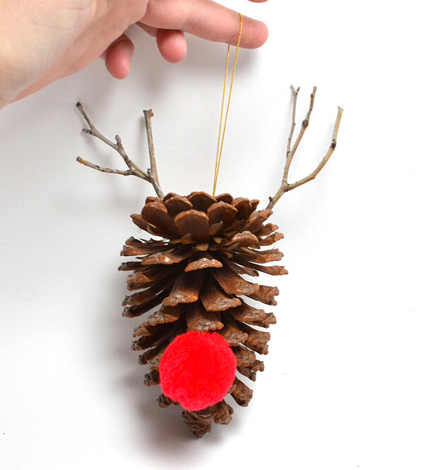 pinecone crafts to make with kids