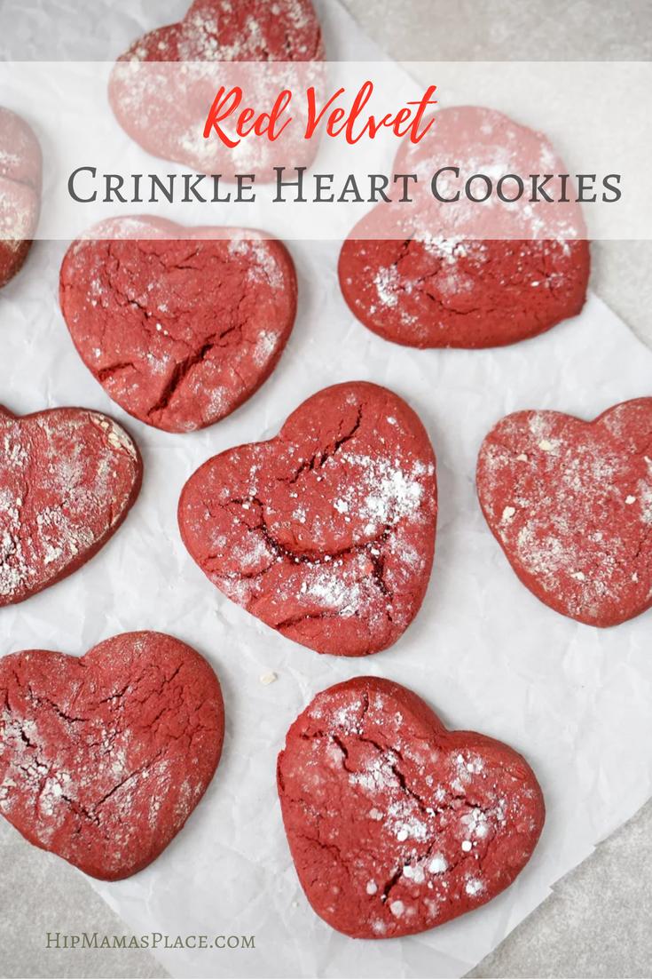 Looking to make something sweet for your sweetheart this Valentine's Day? Try these chewy and delicious Red Velvet Crinkle Cookies!