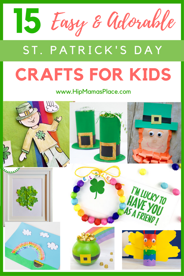 Easy St. Patrick's Day kids crafts