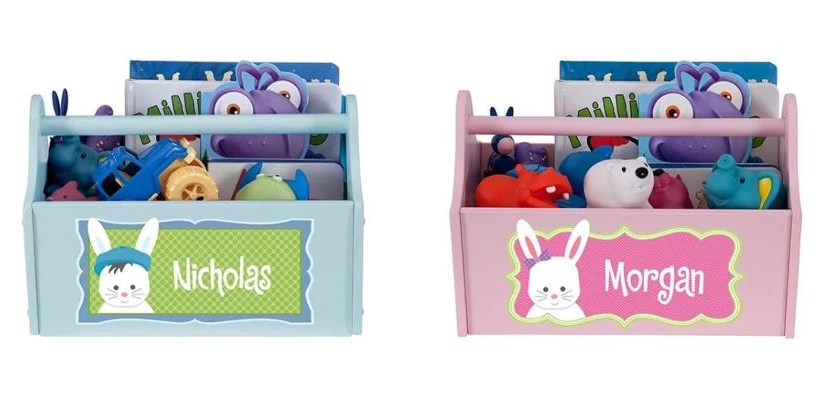 Bunny Personalized Toy Caddy for Boy or Girl