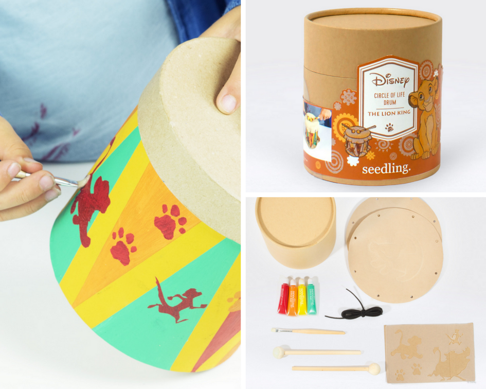 Inspire your child's creativity with the Circle of Life Drum craft kit by Seedling designed for children ages 5 and up.
