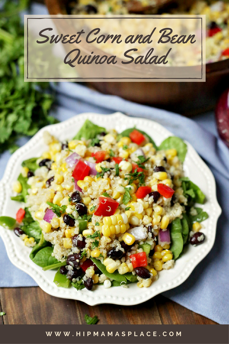 This super healthy and extra delicious corn and quinoa salad makes a perfect filling dish for lunch or dinner!
