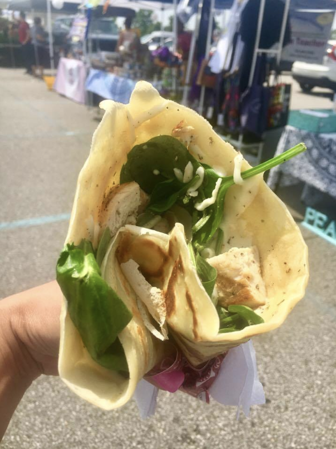 "We enjoyed these mouth-watering, freshly-made healthy crepes from Rita's Crepes at ""The Market at Potomac Mills"" in Woodbridge, Virginia"
