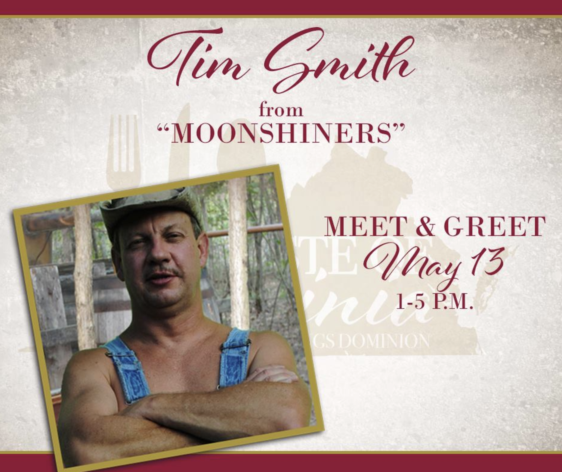 Tim Smith form Moonshiners at the Taste of Virginia Event 2017