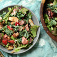 Spring Salad with Strawberry Balsamic Dressing