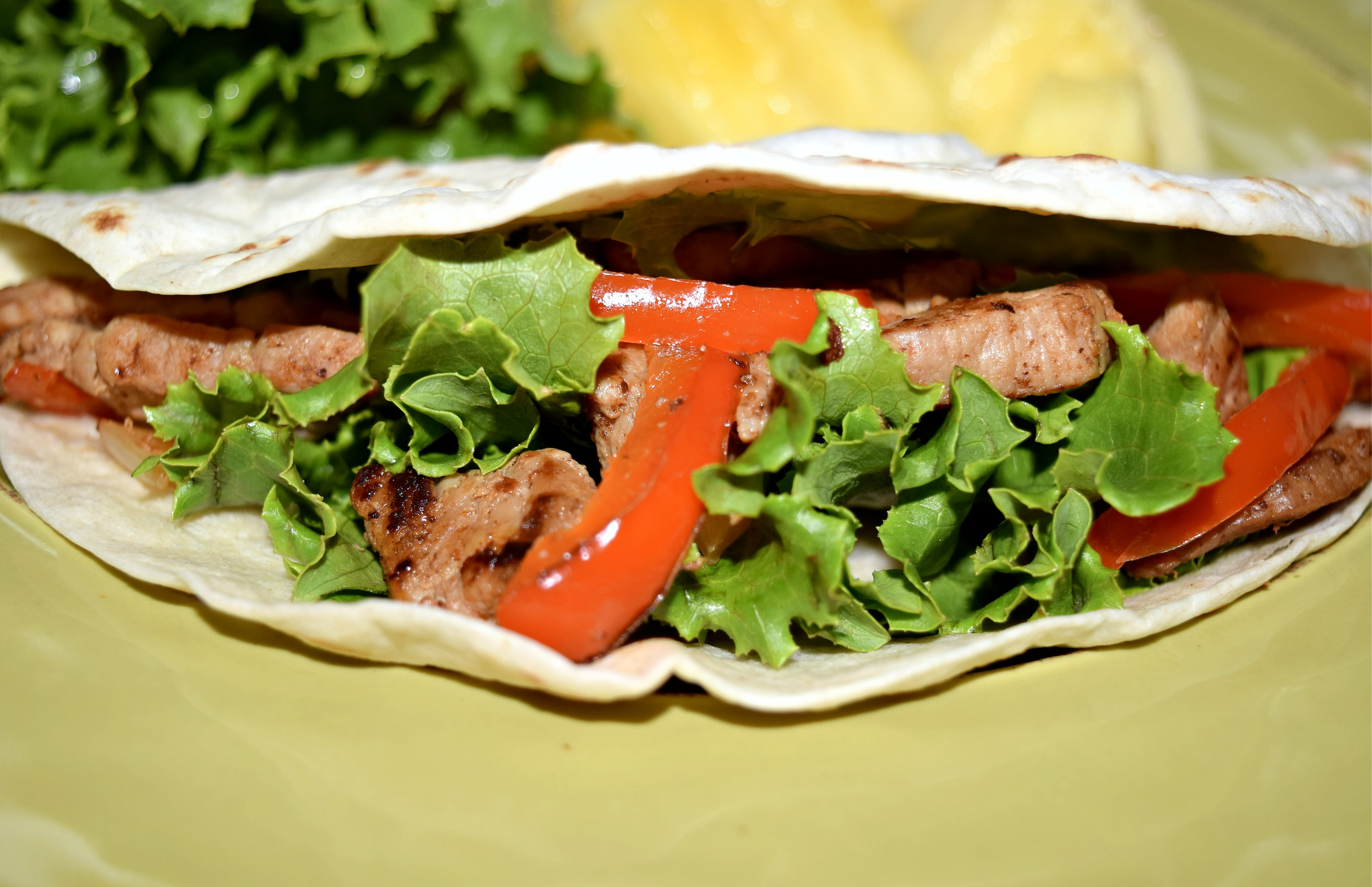 Sweet Teriyaki Pork Fajitas recipe made with Smithfield Sweet Teriyaki Marinated Pork