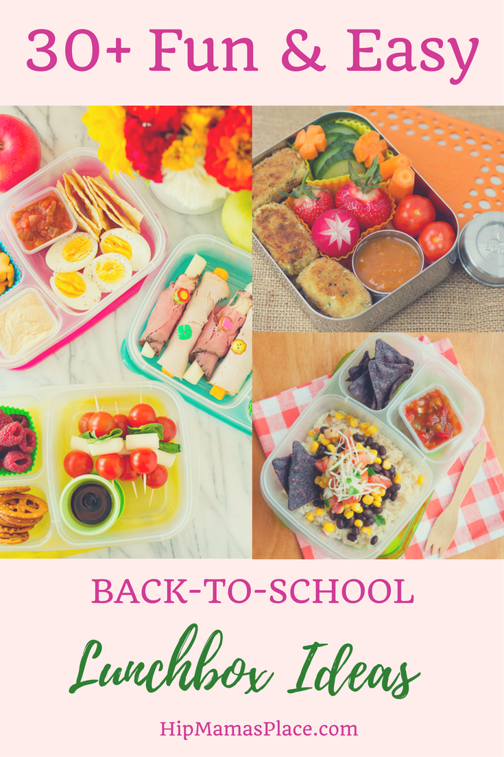 Here are over 30 fun and easy lunchbox ideas for back to school!