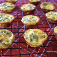 Mini Crustless Baby Kale, Sausage and Cheddar Quiches