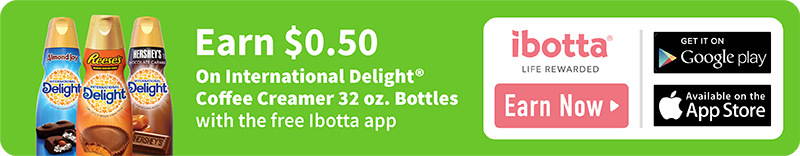 Earn $0.50 on International Delight Coffee Creamer 32 oz. bottle purchase at Walmart with the free Ibotta app!