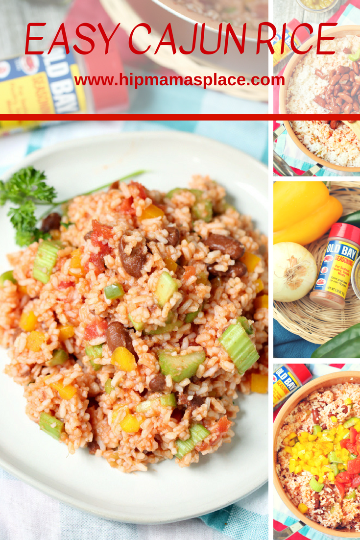 Quick and delicious, this Easy Cajun Rice dish is packed with flavor and is perfect for your next summer party or get-together!