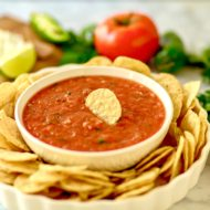 5 Minute Homemade Salsa + Tips on Throwing a Football Party