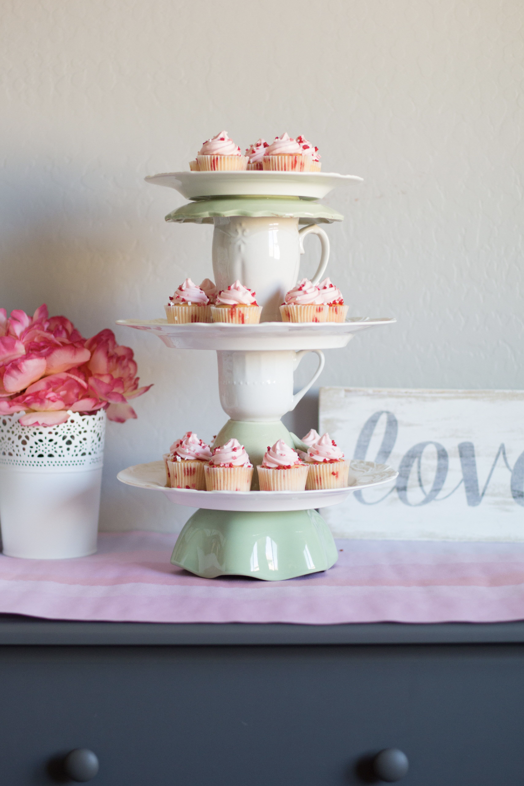 DIY tiered cake stand