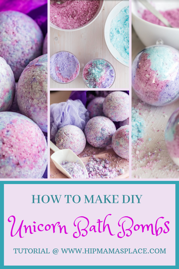 how to make DIY unicorn bath bombs
