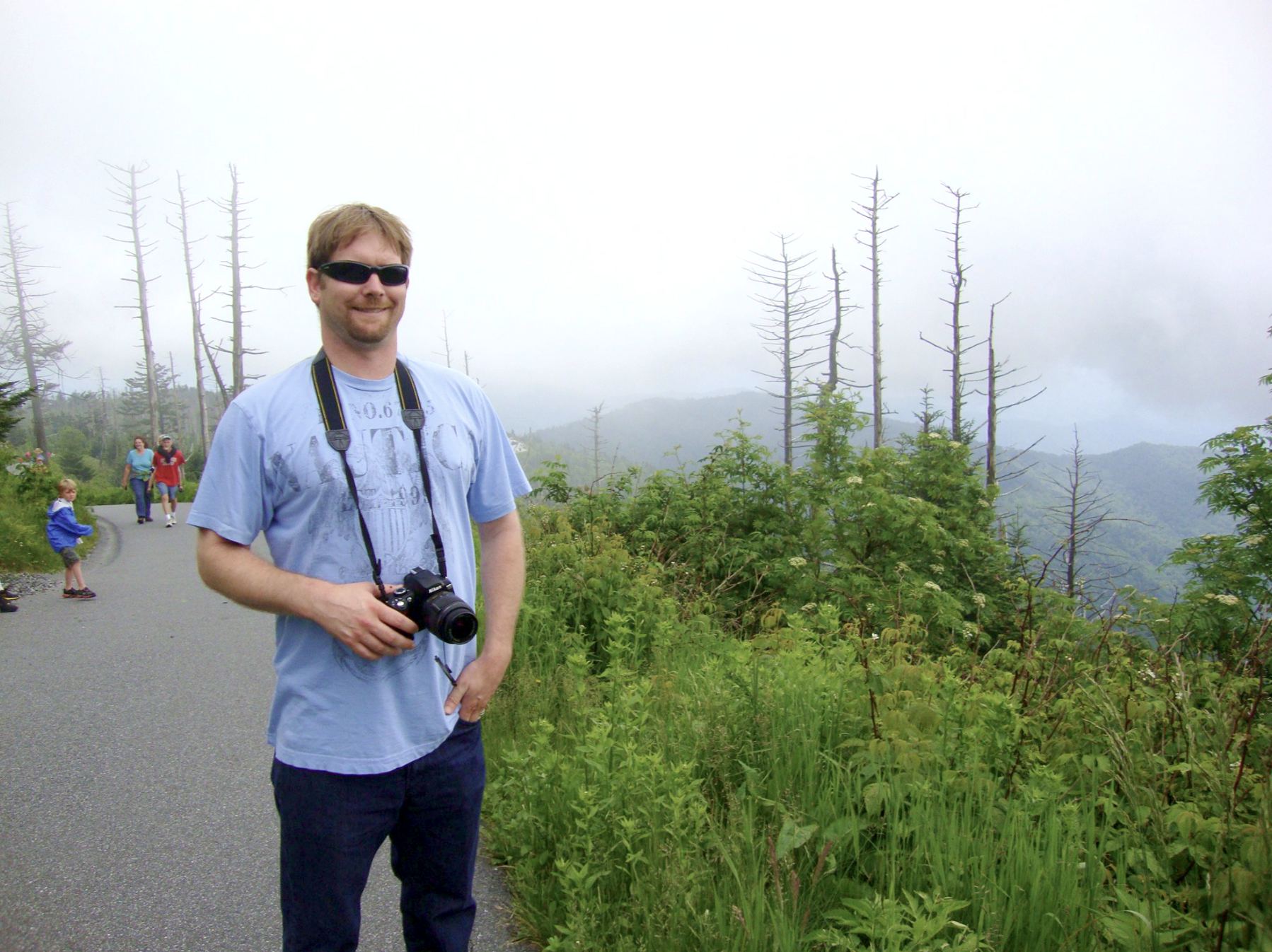 Taking a hike at the Great Smoky Mountains in Pigeon Forge, TN