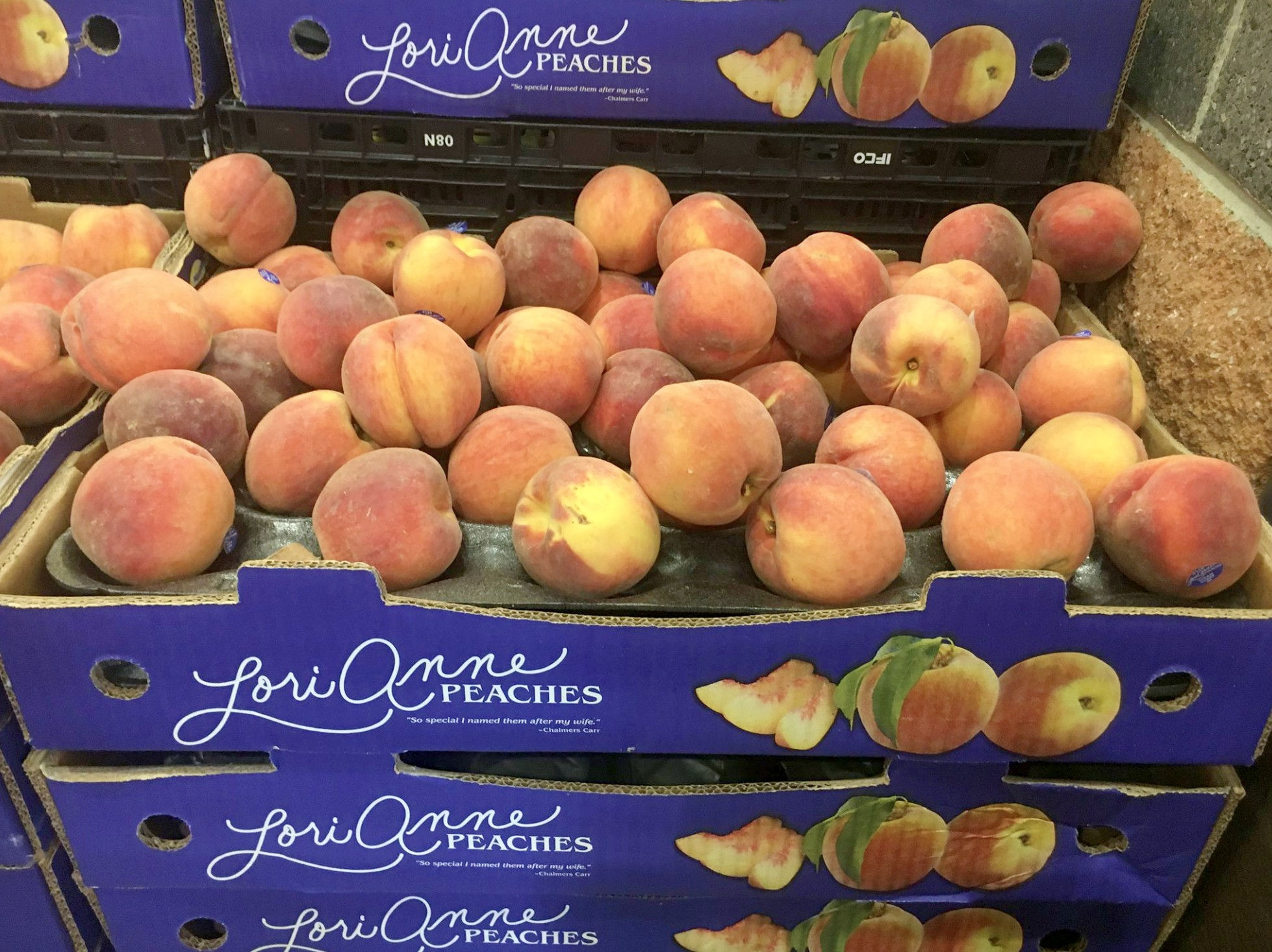 Lori Anne Peaches available only at Wegmans