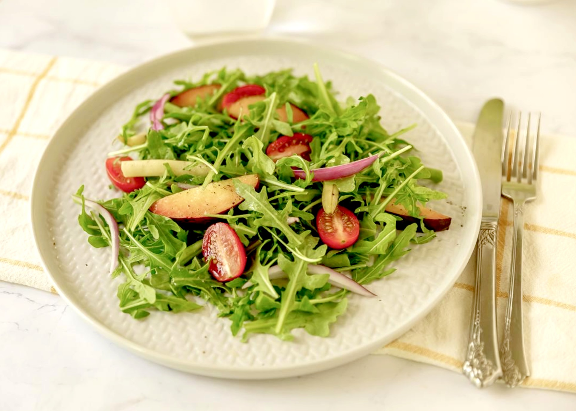 Peach Arugula Salad at Hip Mama's Place, courtesy of Wegmans