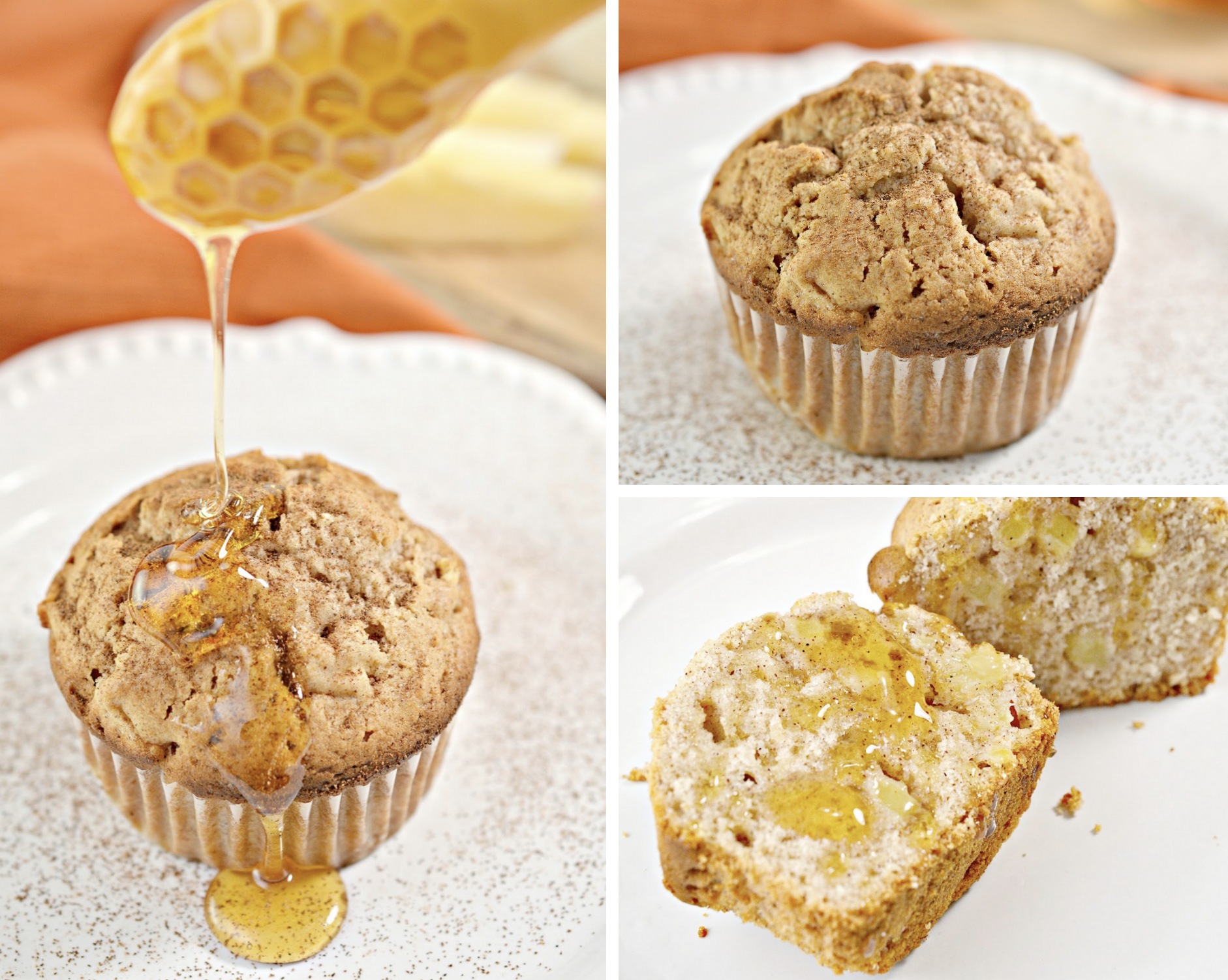 These Honey Apple Muffins will kick your mornings off to a great start! They're incredibly moist and full of yummy cinnamon, honey and apple flavor!
