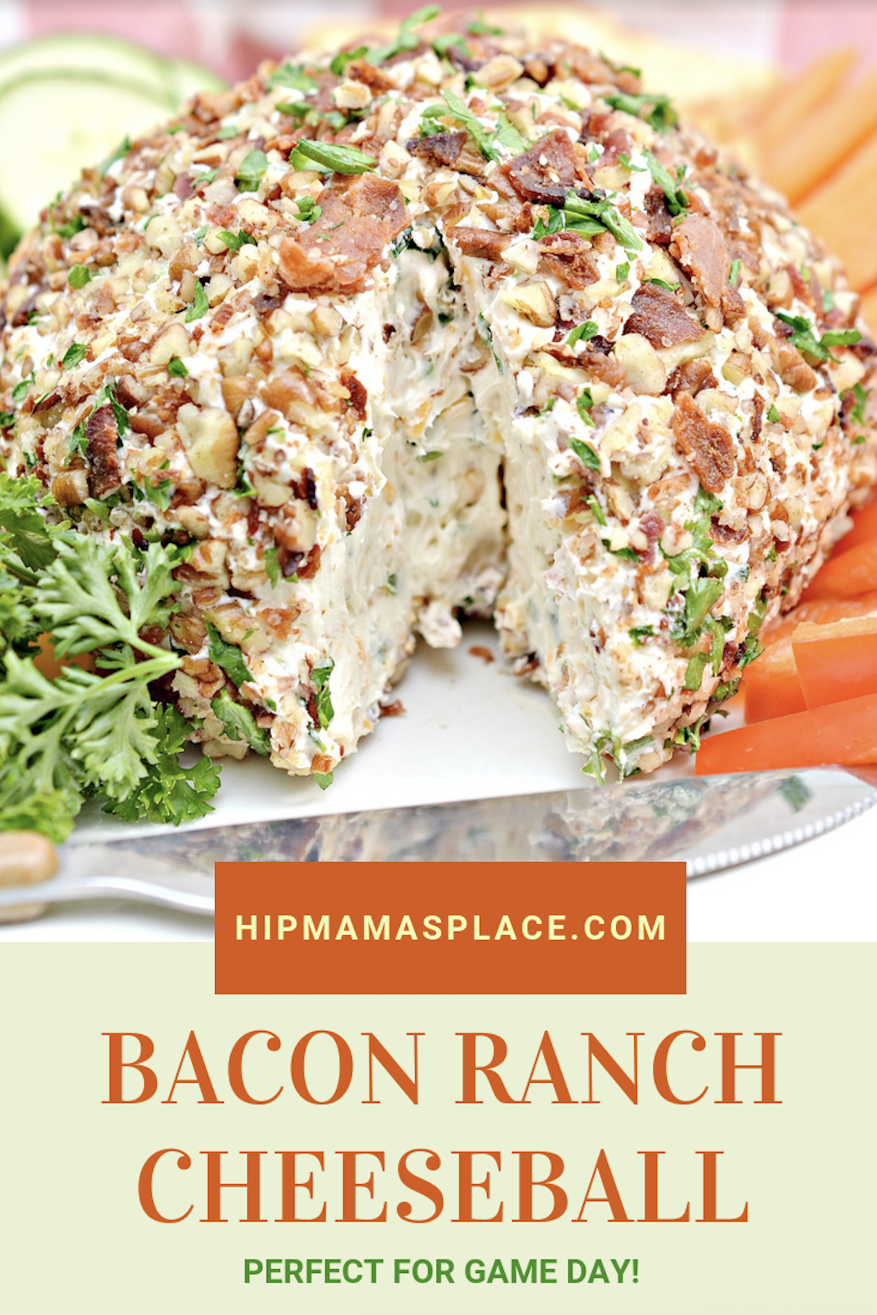 This Bacon Ranch Cheeseball recipe is the BEST EVER and is perfect for game day or any casual party! Plus, I got quick tips for hosting a game day party! #ad #Nexium24HrGameReady #CollectiveBias