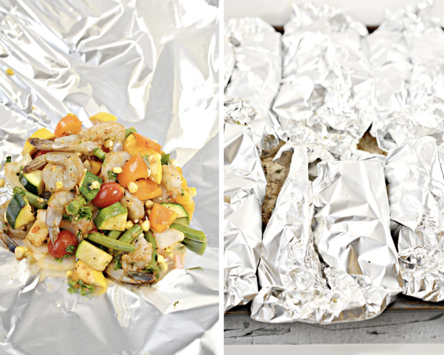 shrimp and veggie foil packets recipe - perfect for summer cookouts!