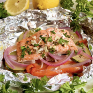 Grilled Herbed Salmon in Foil