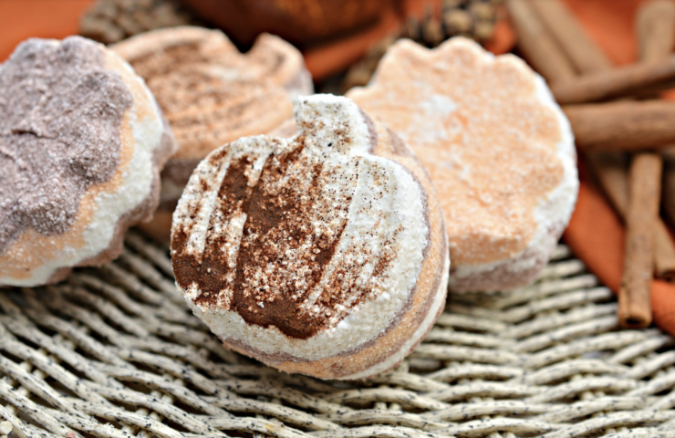 Pumpkin Spice Fall Bath Bombs DIY