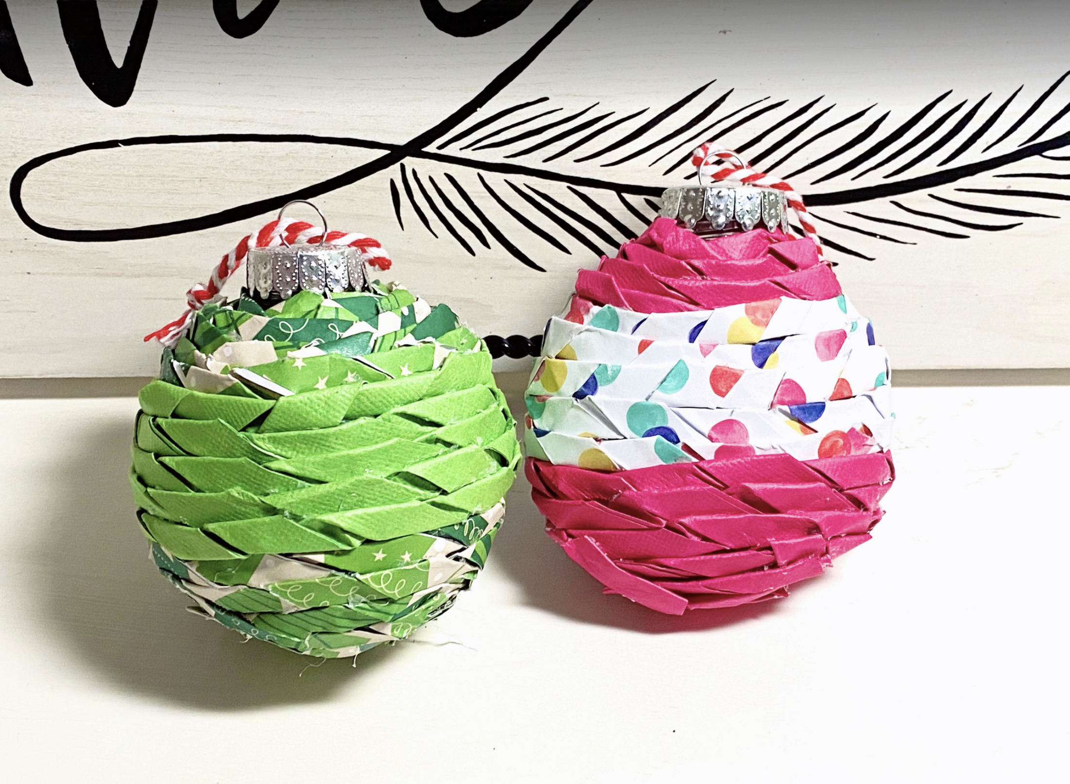 Twisted paper ornaments tutorial