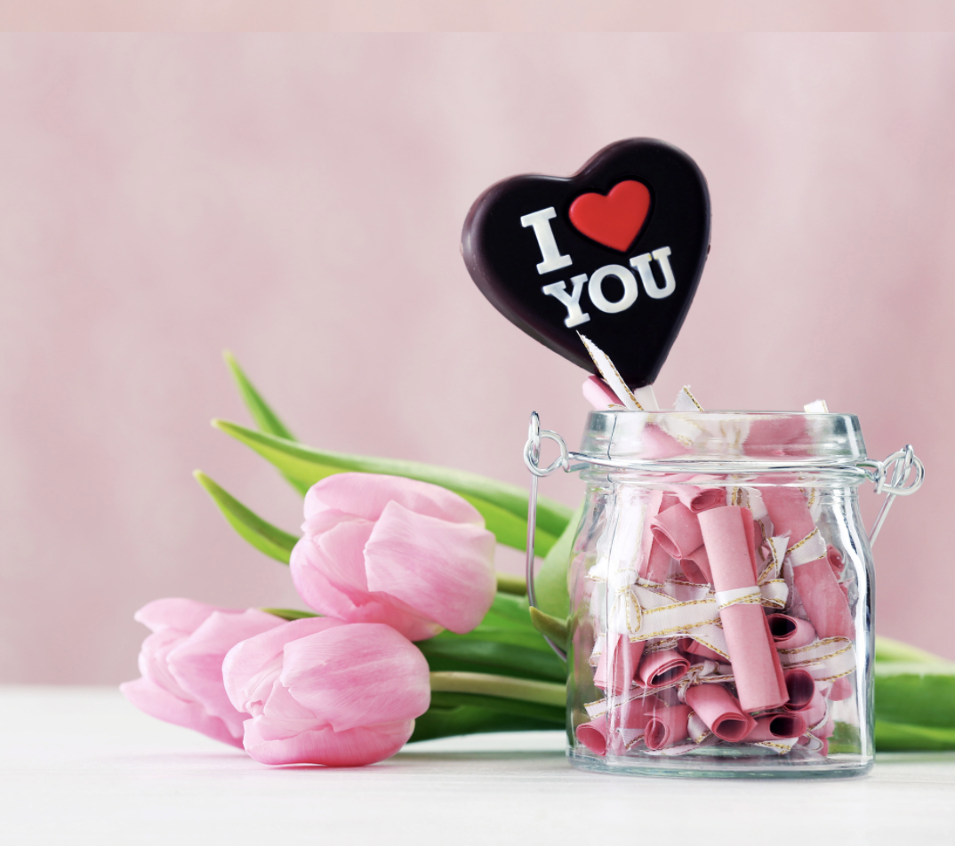 Valentines' Day on a budget: make a love jar for Valentine's Day