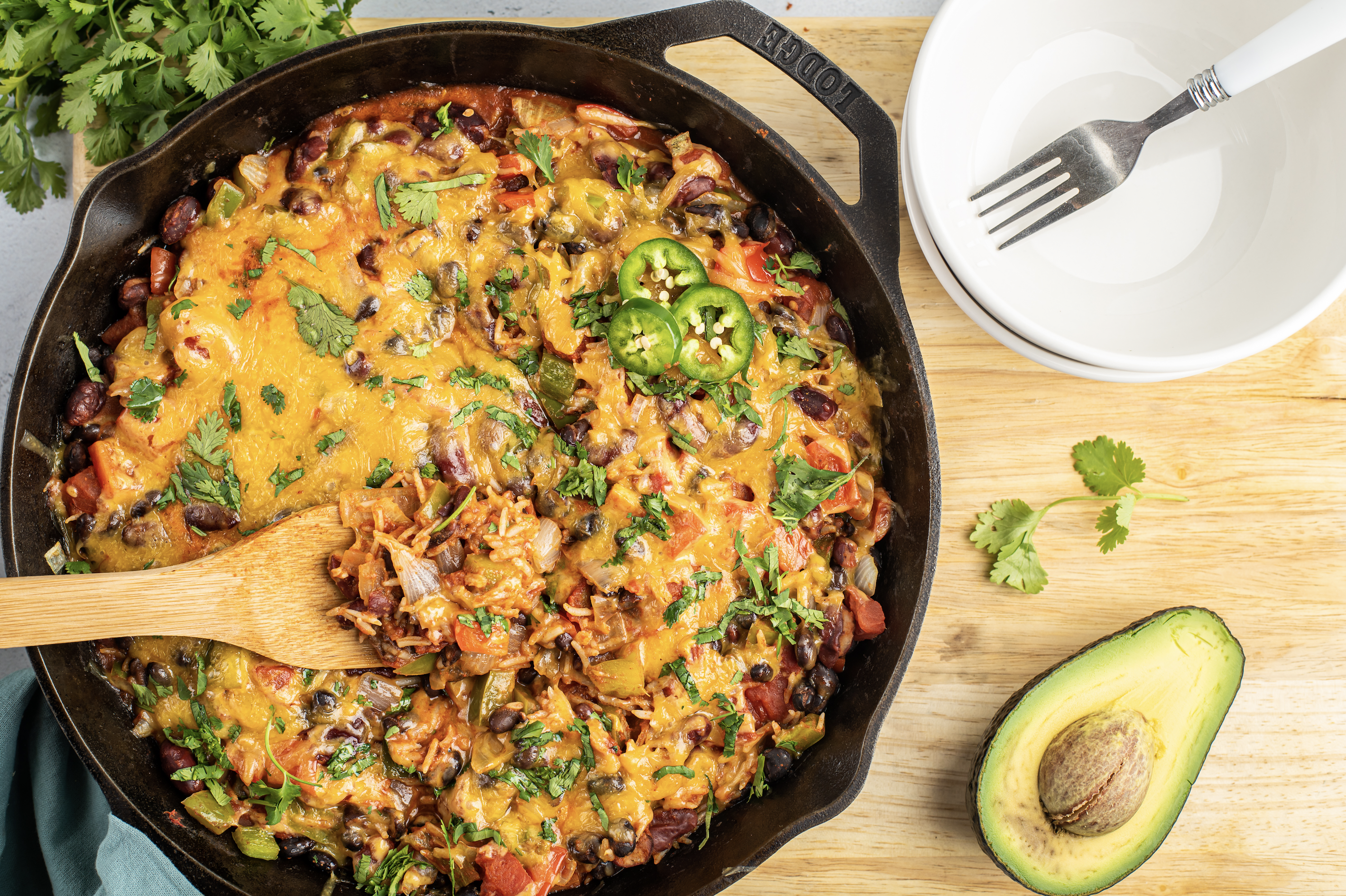 one skillet rice and beans recipe